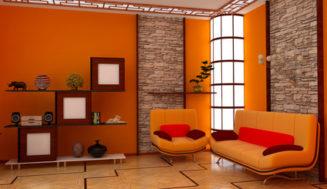 Culoarea portocaliu in case moderne