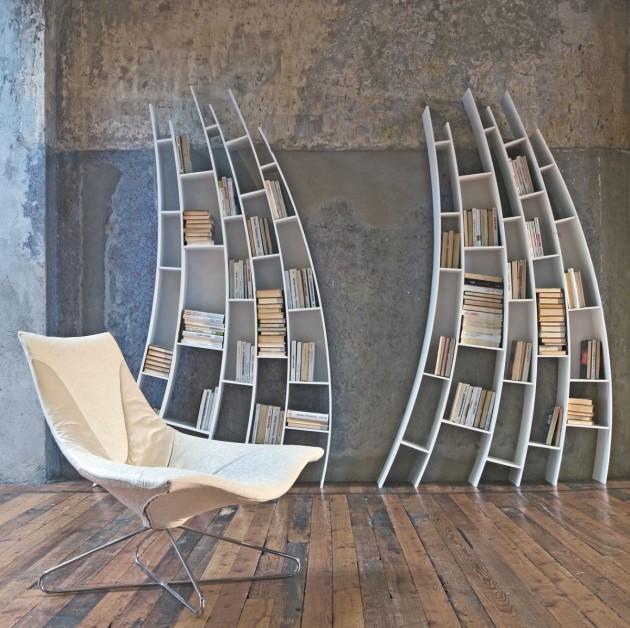 Rafturi pentru carti – in livinguri moderne
