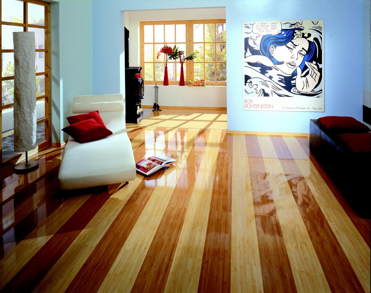 Posibilitate de design– intre doua decoruri de parchet laminat bambus