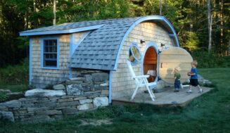 Idee de gradina – casuta din lemn