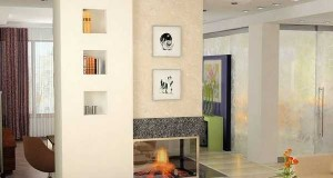 5 idei de utilizare a unui perete fals