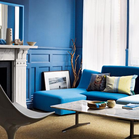 Culoarea albastru pe pereti for Dizain interior