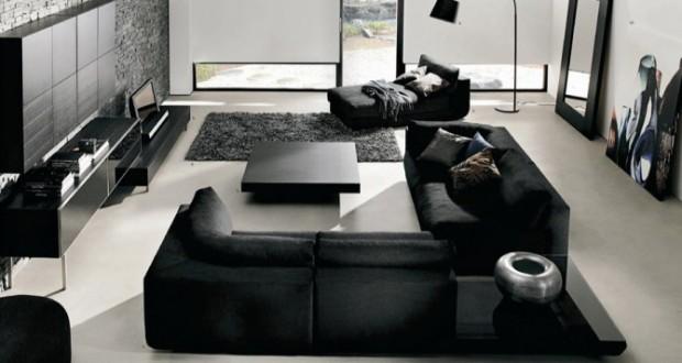 Amenajari interioare in negru : rafinament si eleganta