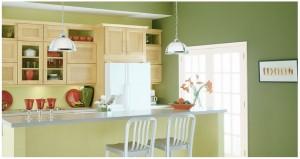 culoarea verde in bucatarie