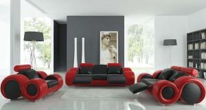 Tendinte 2013: Amenajare in casa cu mobilier rosu