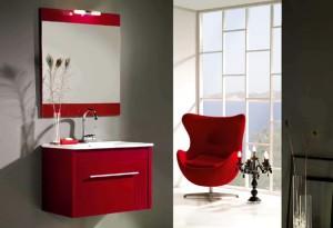 piese de mobilier rosu