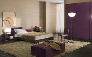 culoarea violet in dormitor