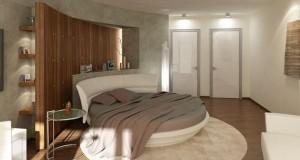 Patul rotund in dormitoare moderne