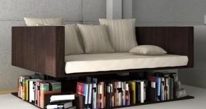 Piese de mobilier realizate din carti