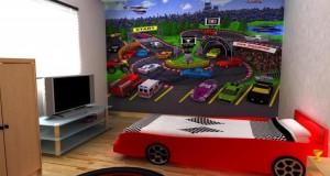 Camera copilului: Design cu masini sport pentru camere de baieti