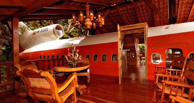 Hotel avion: un decor neconventional