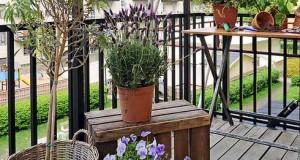 Decoruri vesele pentru un balcon primavaratic
