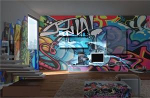 dormitoare grafitti