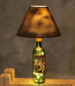 veioze din sticla de vin