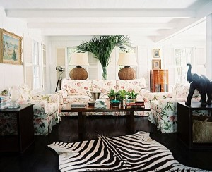 decor tropical in living