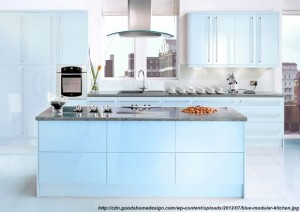 bucatarie albastra