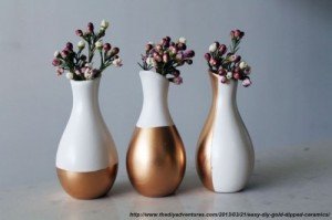 vaze inmuiate in vopsea