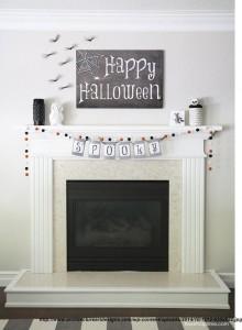 decoruri simple de Halloween