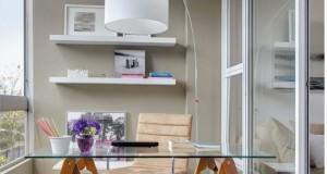 Cum sa amenajezi un birou intr-un balcon inchis