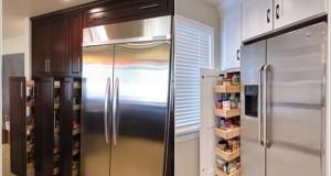 4 metode de a profita de spatiul din zona frigiderului