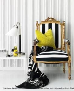 scaune vintage in interioare moderne