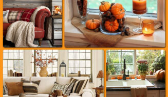 Atmosfera de toamna:  interior cald si accesorii colorate